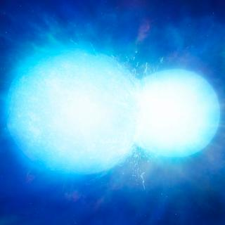 Artistic representation of the white dwarf star